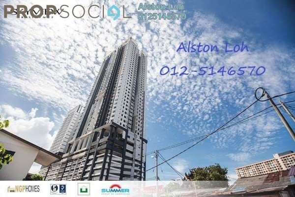 For Sale Condominium at Skyview Residence, Jelutong Freehold Semi Furnished 4R/3B 765k