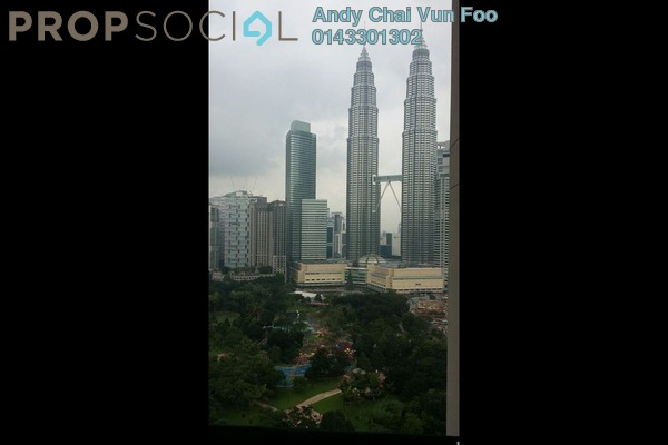 For Rent Condominium at The Binjai On The Park, KLCC Freehold Semi Furnished 5R/5B 10k