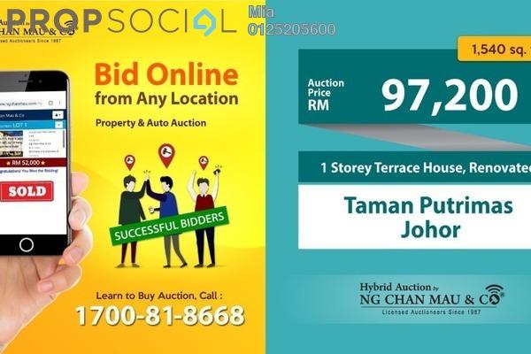 For Sale Terrace at Taman Putri Kulai, Kulai Freehold Unfurnished 0R/0B 97.2k
