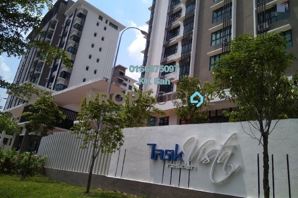 For Rent Condominium at Lake Valley, Bandar Tun Hussein Onn Freehold Semi Furnished 3R/2B 1.5k