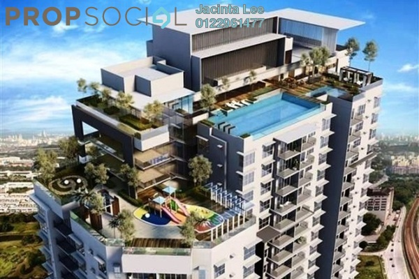 For Sale Serviced Residence at Greenz @ One South, Seri Kembangan Freehold Semi Furnished 3R/2B 346k