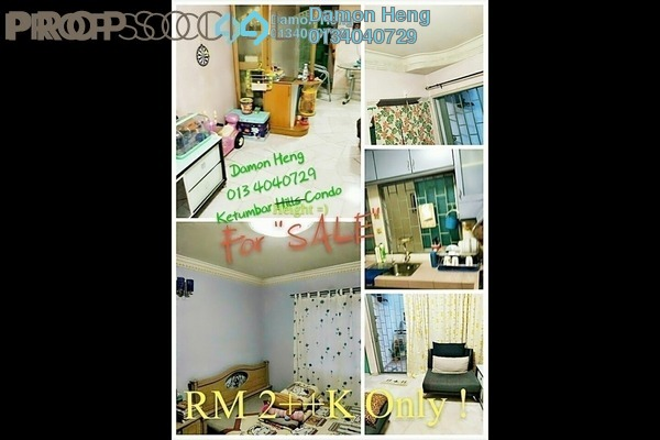 For Sale Condominium at Ketumbar Heights, Cheras Freehold Unfurnished 2R/2B 295k