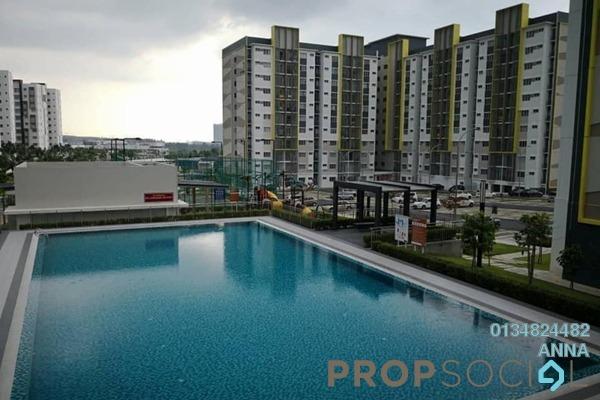 For Sale Apartment at Seri Pinang Apartment, Setia Alam Freehold Semi Furnished 3R/2B 310k