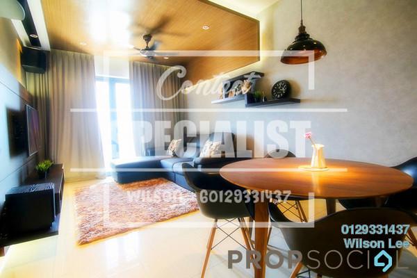 For Sale Condominium at Villa Crystal, Segambut Freehold Semi Furnished 3R/2B 740k