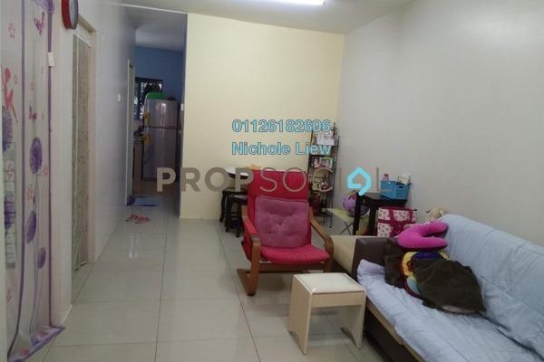 For Sale Apartment at Teratai Apartment, Bandar Mahkota Cheras Freehold Semi Furnished 3R/2B 188k