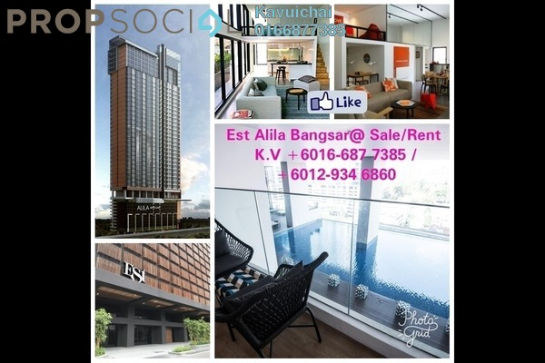 For Rent Condominium at The Establishment, Brickfields Freehold Fully Furnished 2R/2B 3.6k