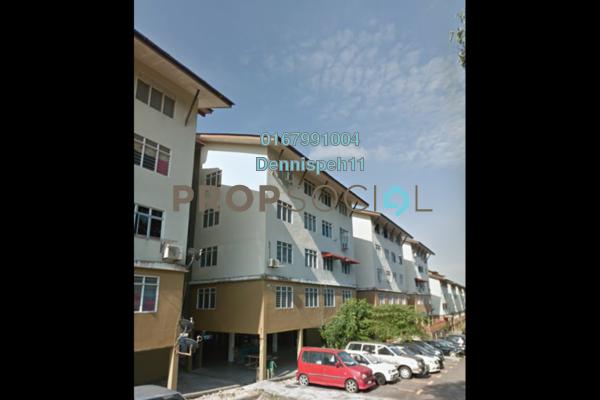 For Sale Apartment at Taman Ehsan Jaya, Johor Bahru Freehold Unfurnished 3R/2B 100k
