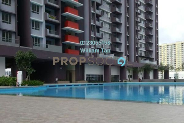 For Rent Condominium at Platinum Lake PV21, Setapak Freehold Semi Furnished 2R/2B 1.2k
