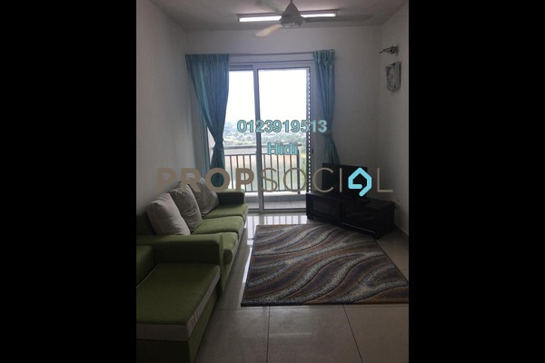 For Rent Serviced Residence at De Centrum Residences, Kajang Freehold Semi Furnished 2R/1B 1.4k
