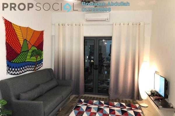 For Rent Serviced Residence at Suria Residence, Bukit Jelutong Freehold Fully Furnished 2R/2B 2k