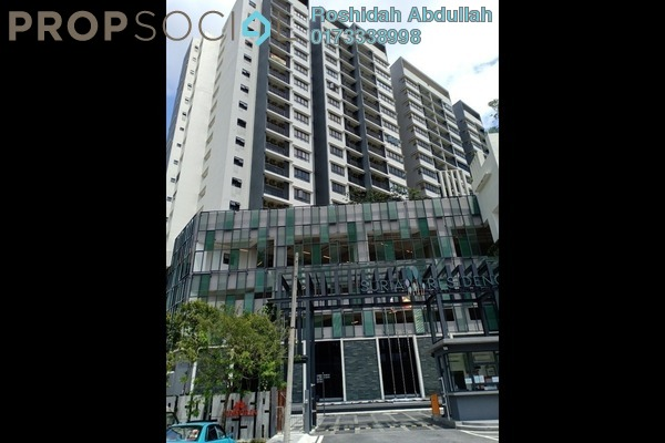 For Rent Serviced Residence at Suria Residence, Bukit Jelutong Freehold Semi Furnished 1R/1B 1.5k