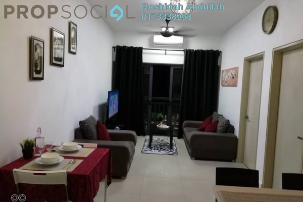 For Rent Serviced Residence at Suria Residence, Bukit Jelutong Freehold Fully Furnished 2R/1B 1.8k