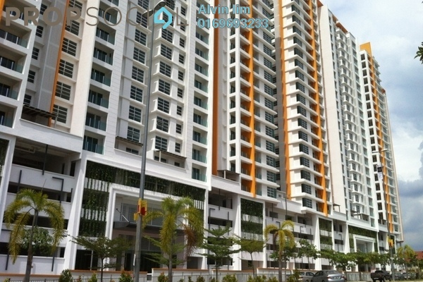 For Rent Condominium at The Zest, Bandar Kinrara Freehold Semi Furnished 3R/2B 1.45k