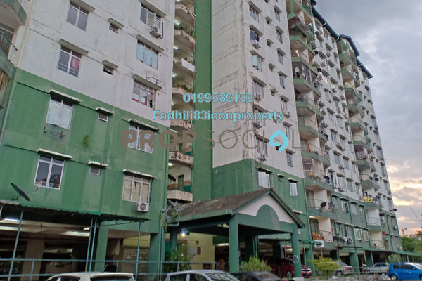 For Rent Apartment at Jalan Sungai Besi, Kuala Lumpur Freehold Unfurnished 4R/2B 1.3k