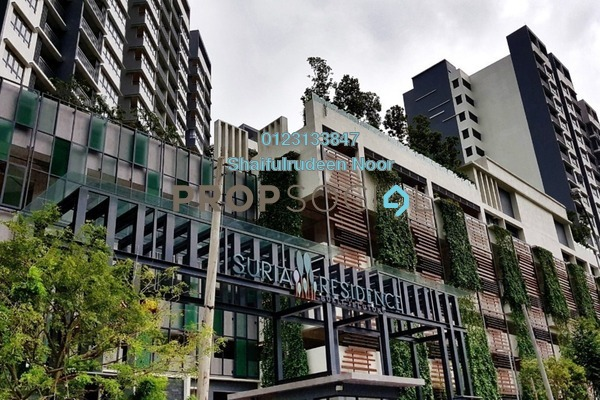 For Sale Serviced Residence at Suria Residence, Bukit Jelutong Freehold Semi Furnished 3R/2B 730k