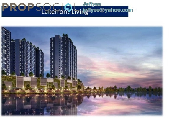 For Sale Condominium at LakeFront Homes, Cyberjaya Freehold Semi Furnished 3R/2B 388k