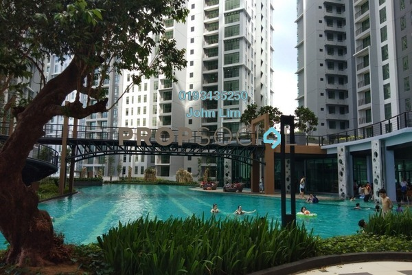 For Rent Condominium at The Henge Residence, Kepong Freehold Semi Furnished 3R/2B 1.5k