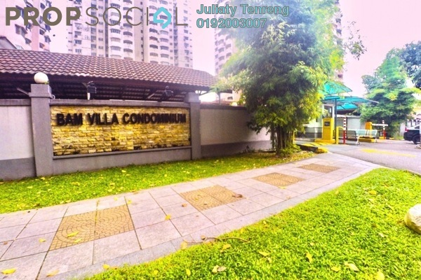 For Sale Condominium at BAM Villa, Cheras Freehold Unfurnished 3R/2B 360k
