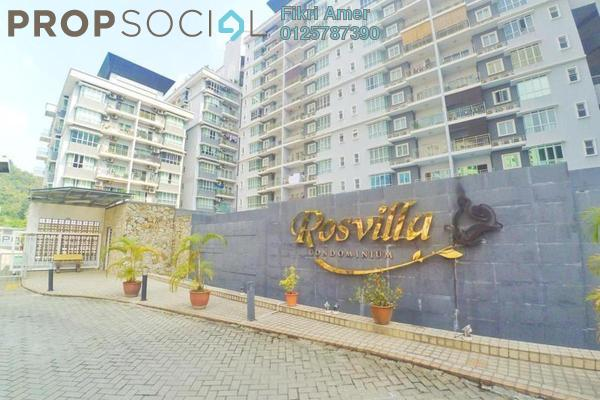 For Sale Condominium at Rosvilla, Segambut Freehold Fully Furnished 3R/2B 580k