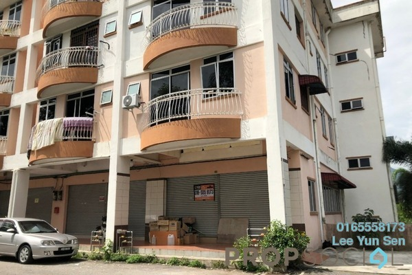For Rent Shop at City View Apartment, Ipoh Freehold Unfurnished 0R/2B 1.9k