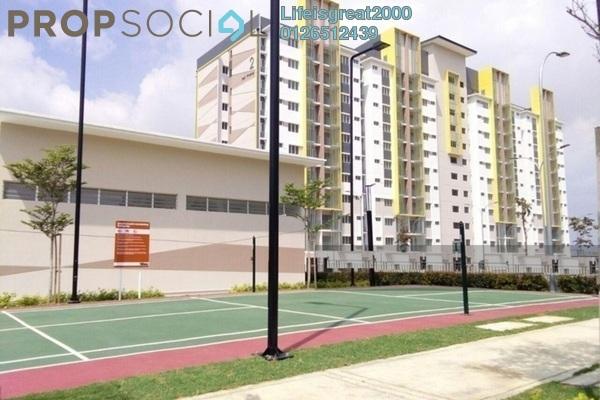 For Sale Apartment at Seri Pinang Apartment, Setia Alam Freehold Semi Furnished 3R/2B 308k