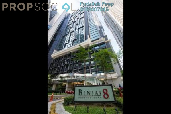 For Rent Serviced Residence at Binjai 8, KLCC Freehold Fully Furnished 1R/1B 2.9k