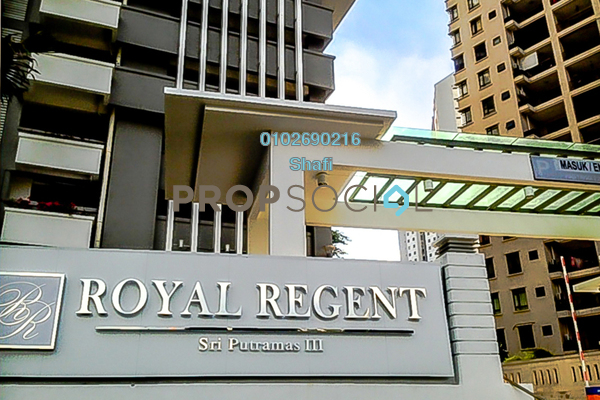 For Sale Condominium at Royal Regent, Dutamas Freehold Fully Furnished 2R/2B 480k