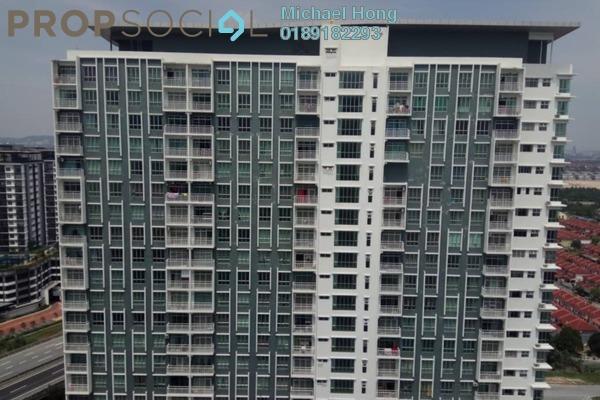 For Rent Condominium at BSP Skypark, Bandar Saujana Putra Freehold Semi Furnished 3R/2B 1.2k