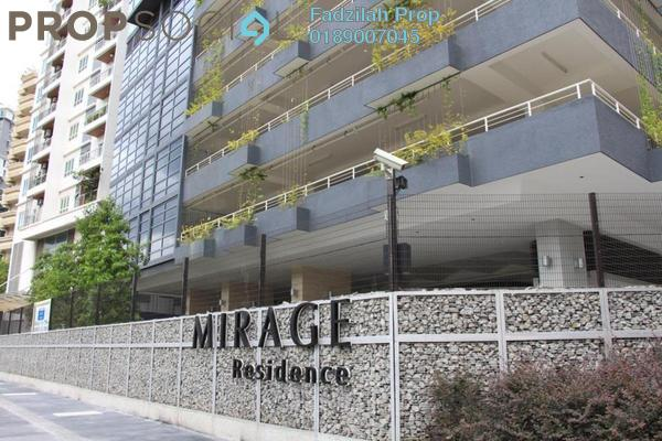 For Rent Condominium at Mirage Residence, KLCC Freehold Fully Furnished 3R/4B 5.5k