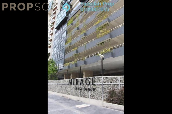 For Rent Condominium at Mirage Residence, KLCC Freehold Fully Furnished 3R/3B 5.5k
