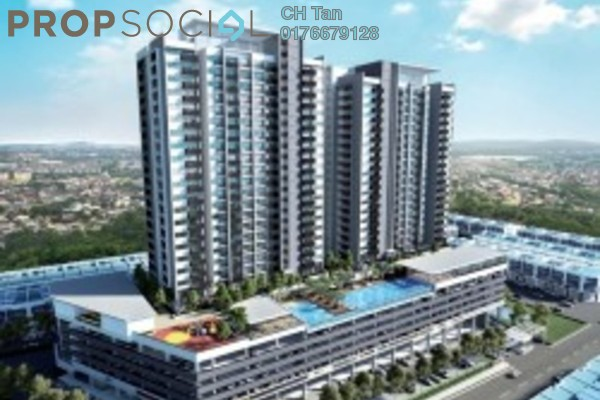 For Sale Serviced Residence at Putra One, Bukit Rahman Putra Freehold Semi Furnished 3R/2B 600k