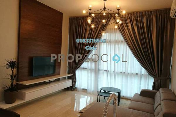 For Sale Condominium at Vogue Suites One @ KL Eco City, Mid Valley City Freehold Fully Furnished 1R/2B 900k