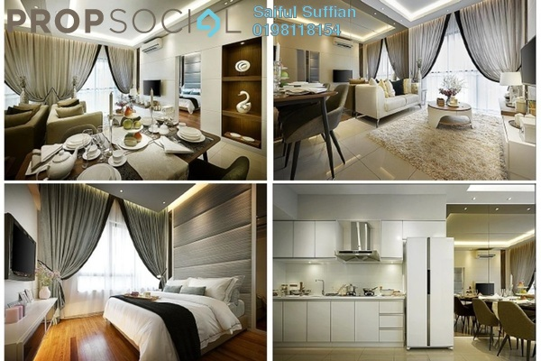 For Sale Serviced Residence at Renai Jelutong Residences, Bukit Jelutong Freehold Semi Furnished 2R/2B 480k