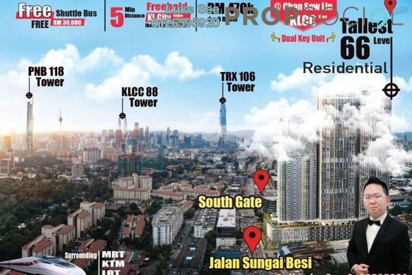 For Sale Condominium at Trion @ KL, Kuala Lumpur Freehold Semi Furnished 2R/2B 581k