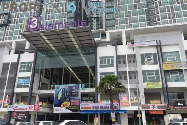 For Rent Condominium at 3Elements, Bandar Putra Permai Freehold Semi Furnished 1R/1B 900translationmissing:en.pricing.unit