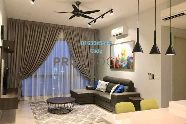 For Sale Condominium at Vogue Suites One @ KL Eco City, Mid Valley City Freehold Fully Furnished 2R/2B 1.1m
