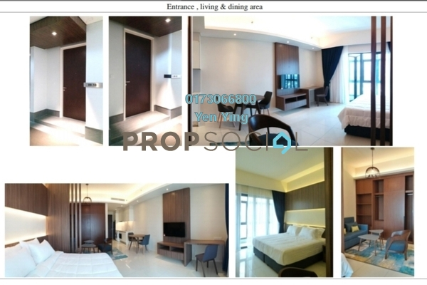 For Rent Serviced Residence at Tribeca, Bukit Bintang Freehold Fully Furnished 1R/1B 3k