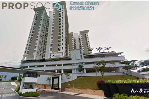 For Rent Condominium at Andana @ D'Alpinia, Puchong Freehold Semi Furnished 3R/2B 1.8k