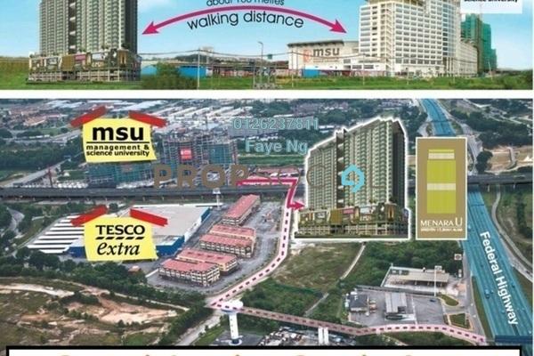 For Rent Condominium at Menara U2, Shah Alam Freehold Fully Furnished 2R/1B 1.4k