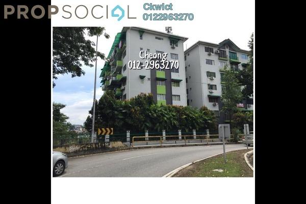 For Rent Apartment at Vista Wira 1 & 2, Wangsa Maju Freehold Semi Furnished 3R/2B 1.38k
