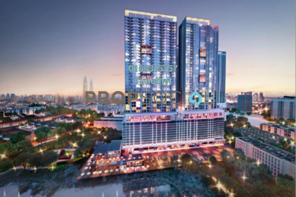 For Sale Serviced Residence at 28 Boulevard, Pandan Perdana Freehold Semi Furnished 0R/0B 299k