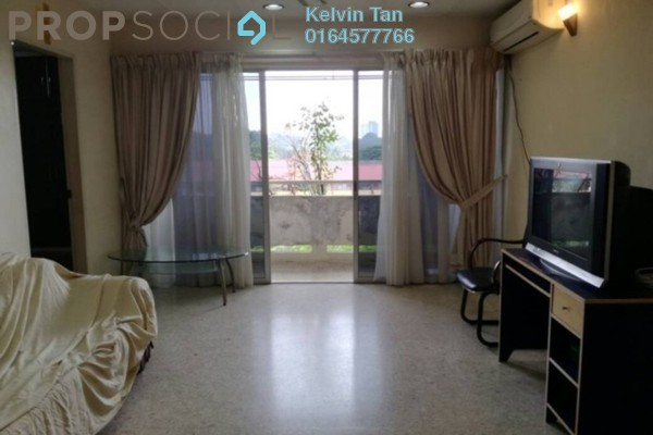 For Rent Apartment at Taman Kampar, Georgetown Freehold Semi Furnished 3R/2B 1k