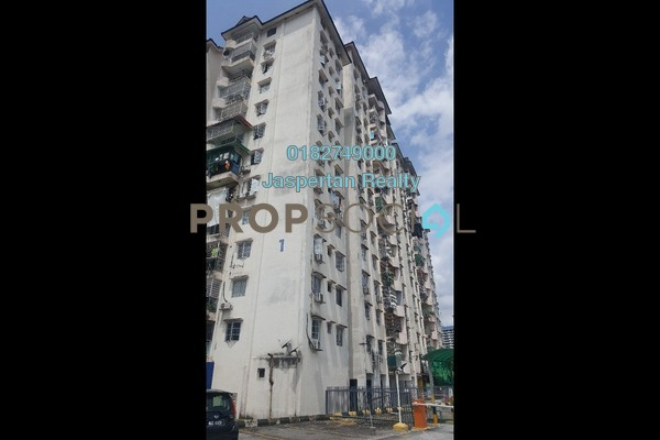 For Rent Apartment at Genting Court, Setapak Freehold Semi Furnished 3R/2B 1.1k