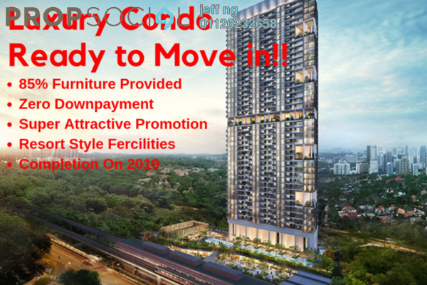 For Sale Condominium at Bennington Residences @ SkyArena, Setapak Freehold Semi Furnished 3R/2B 600k