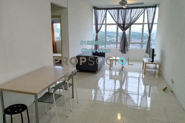 For Rent Condominium at Sierra Residency, Bandar Kinrara Freehold Fully Furnished 3R/2B 1.1k