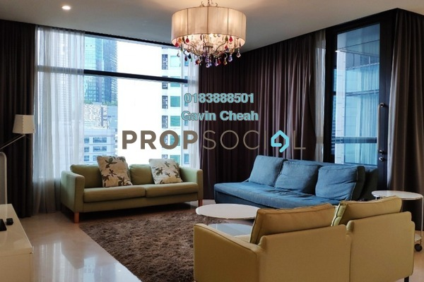 For Rent Serviced Residence at The Troika, KLCC Freehold Fully Furnished 3R/4B 9k