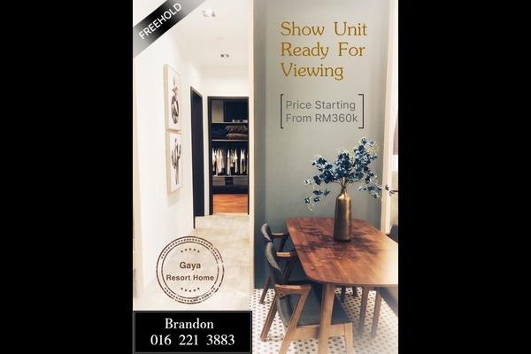 For Sale Condominium at Gaya Resort Homes, Bukit Rimau Freehold Unfurnished 3R/2B 430k