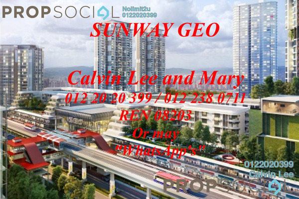 For Rent Condominium at Sunway GEO Residences, Bandar Sunway Leasehold Semi Furnished 2R/2B 2.8k