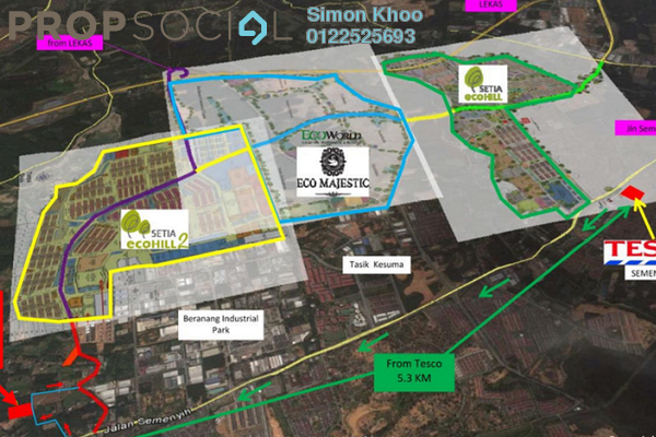 For Sale Land at Setia EcoHill 2, Semenyih Freehold Unfurnished 0R/0B 3.5m