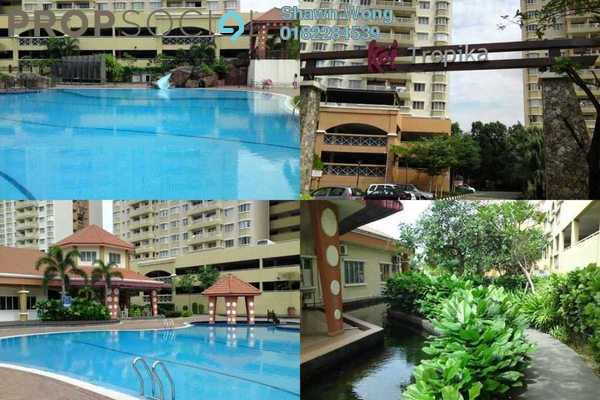 For Rent Condominium at Koi Tropika, Puchong Freehold Semi Furnished 3R/2B 1.2k